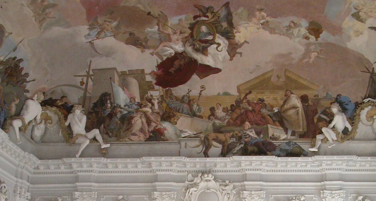 Oberflächenreinigung Alabasterskulpturen - Fürstbischöfliche Residenz Würzburg
