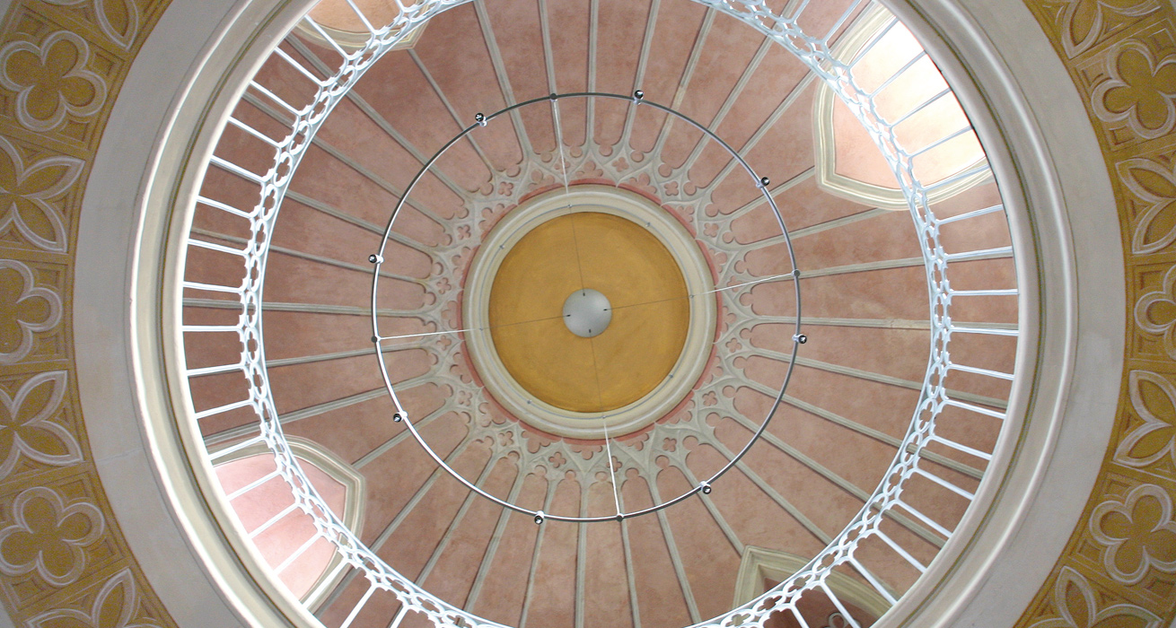 Kuppel - Bibliothek Schloss Wolkenburg