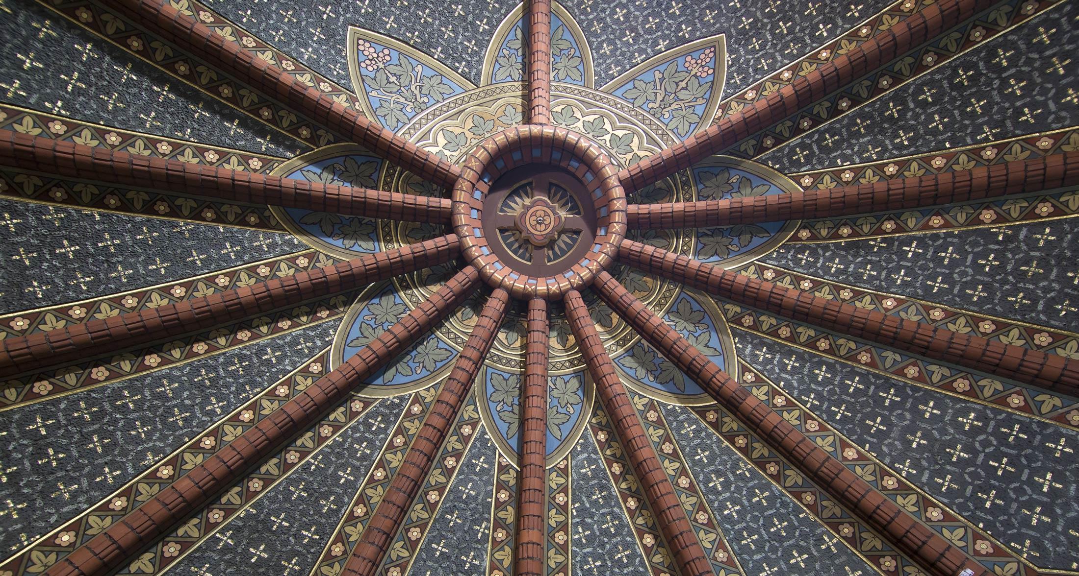 Gewölbemittelpunkt im Schlusszustand - Lutherkirche Apolda