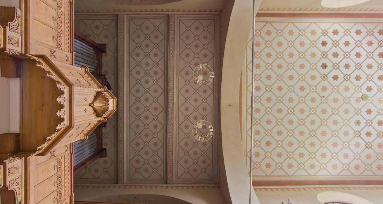 Deckenansicht - Schlosskirche Goseck, Sanktuarium