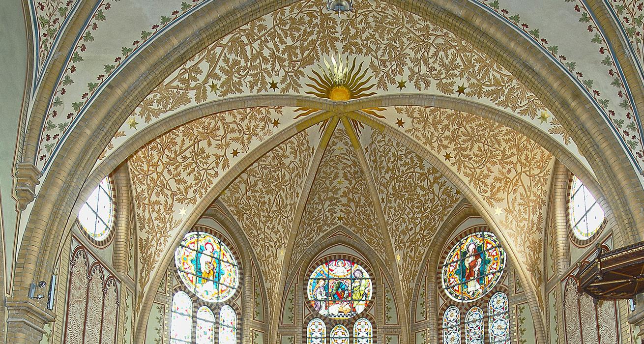 Deckengewölbe - St. Trinitatis Kirche, Hainichen
