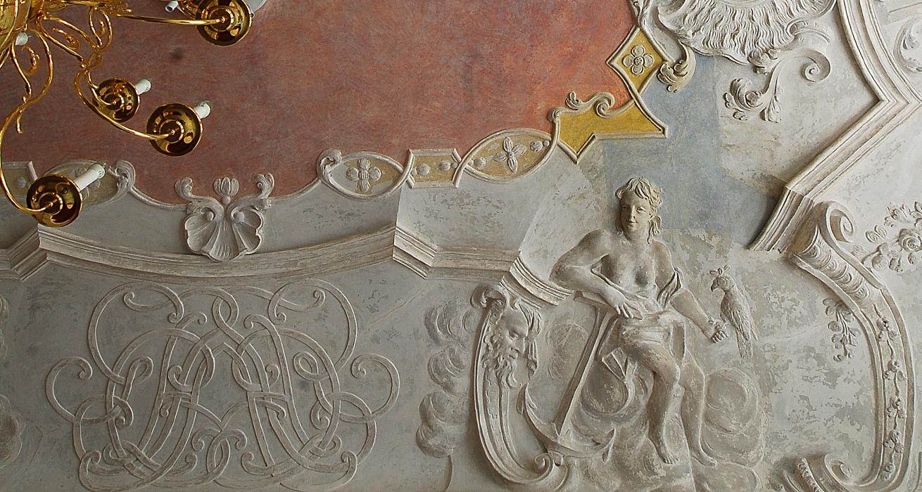 Freilegung und Konservierung der Stuckdecke - Kulturhistorisches Museum Görlitz