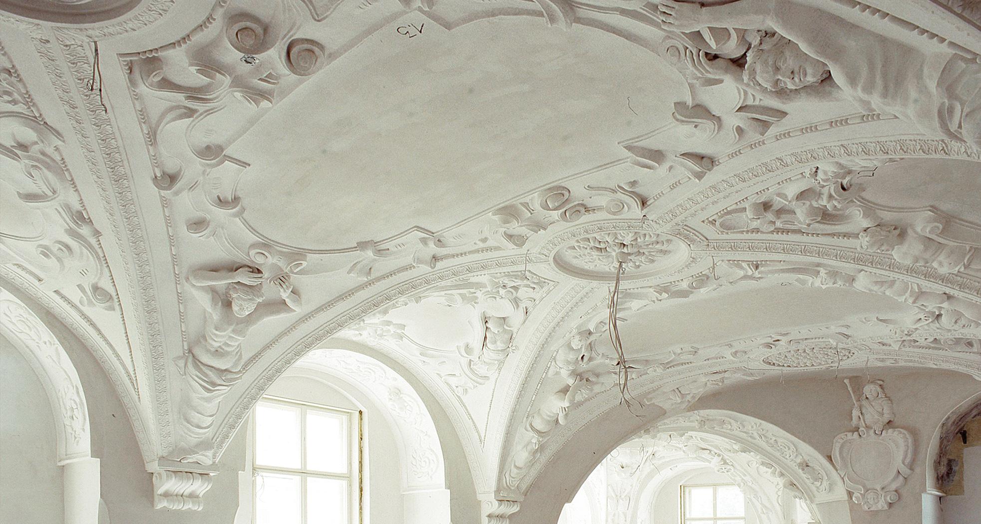 Übersichtsaufnahme ins Gewölbe – Schlusszustand - Neues Schloss Bad Muskau