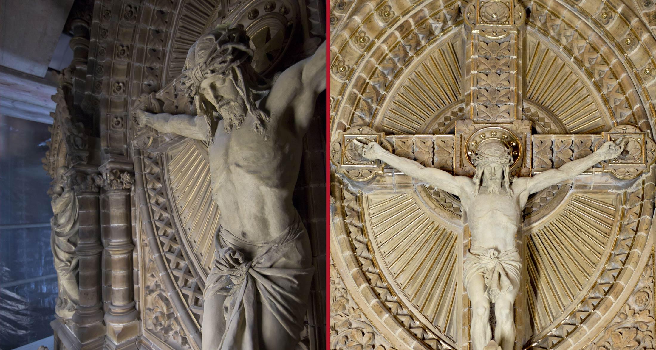 Kreuzigungsskulptur im Schlusszustand - Lutherkirche Apolda
