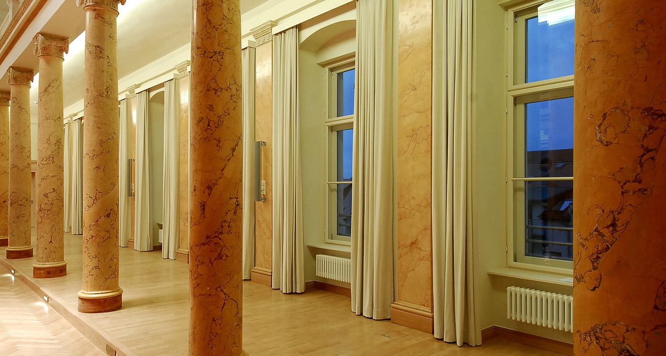 Restaurierung Marmoroberflächen - Leopoldina, Halle