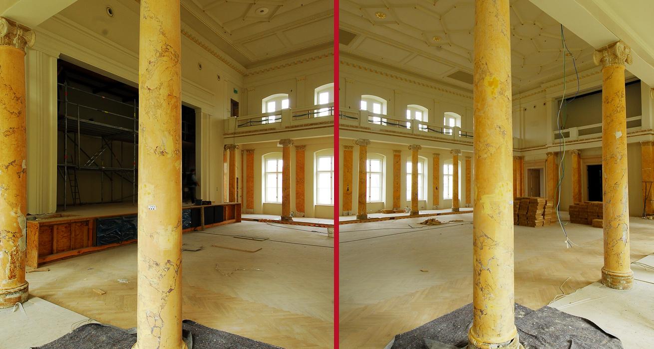 Restaurierung Festsaal - Leopoldina, Halle