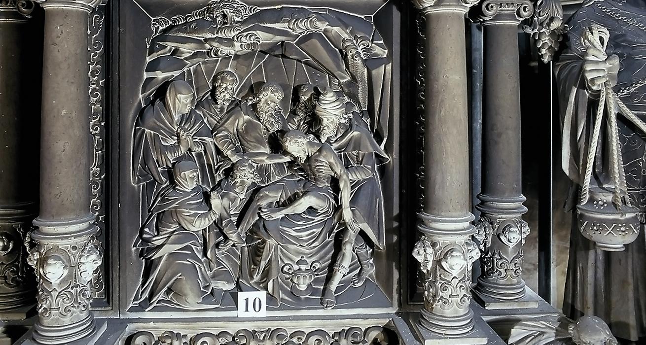 Hauptaltar Restaurierung nach Brandschaden - St. Marien und Laurentin, Lauenstein