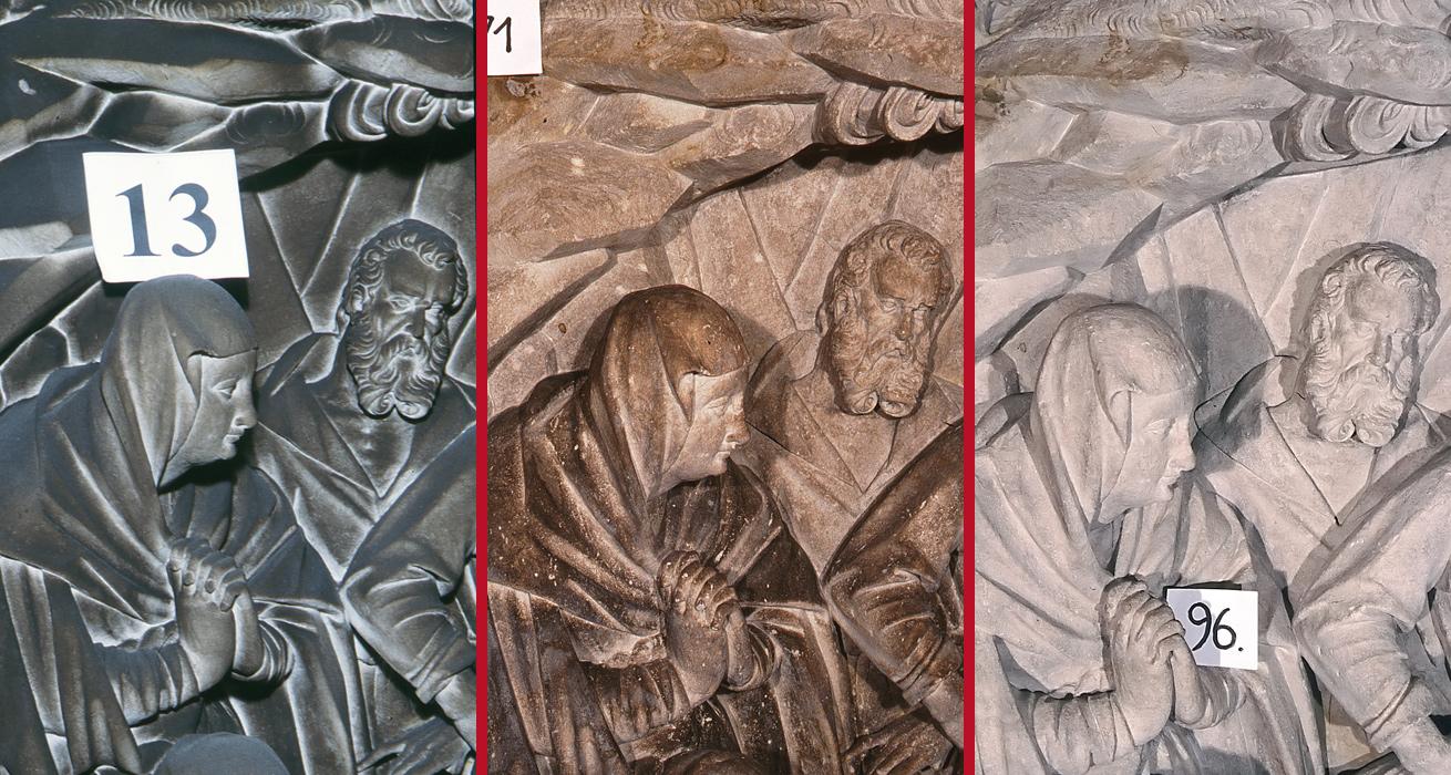 Restaurierung Hauptaltar Detail - St. Marien und Laurentin, Lauenstein