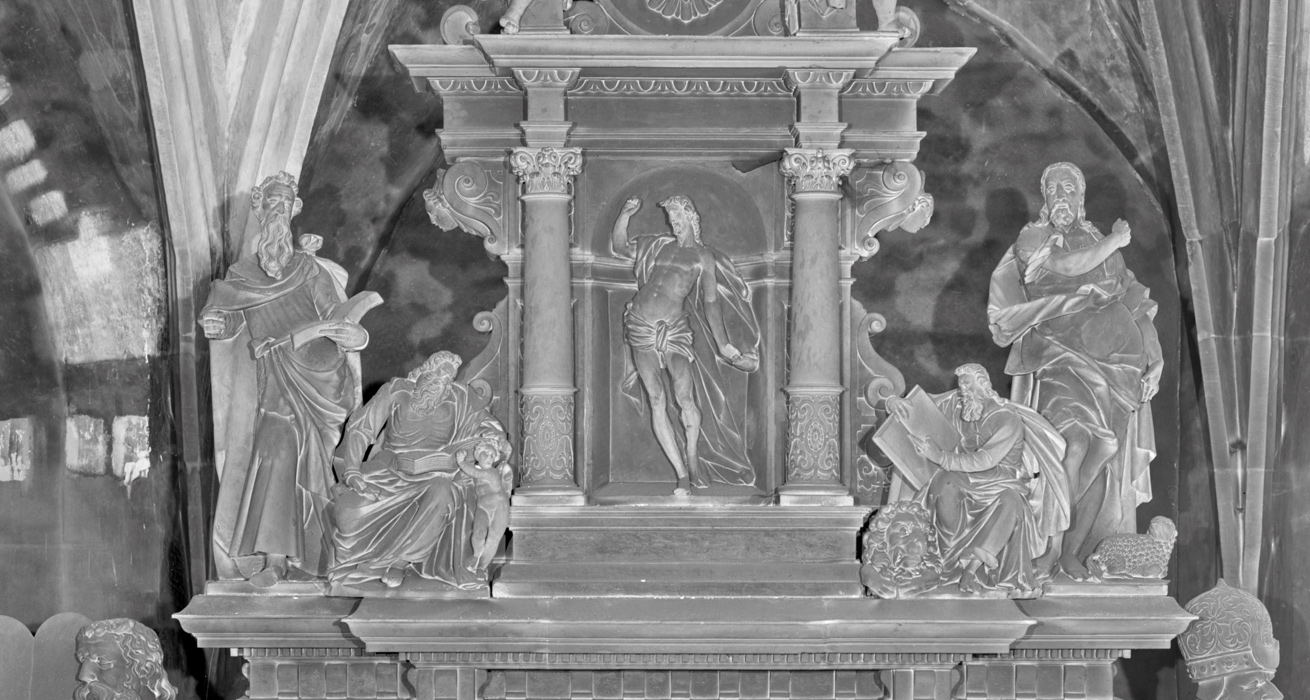 Restaurierung Hauptaltar Ausgangszustand - St. Marien und Laurentin, Lauenstein