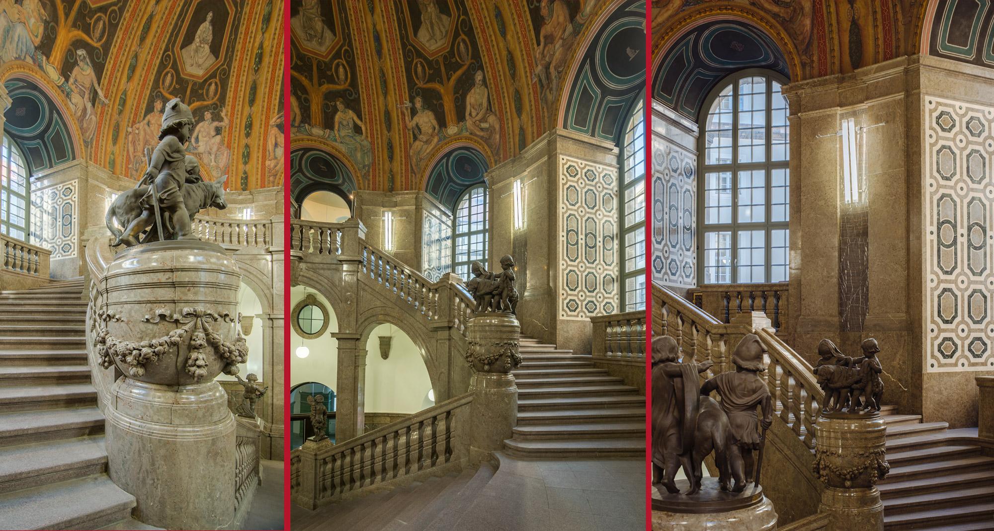 Impressionen aus dem Treppenhaus – Schlusszustand - Neues Rathaus Dresden