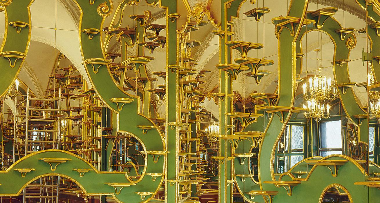 Restaurierung der vergoldeten Konsolen - Residenzschloss Dresden, Historisches Grünes Gewölbe