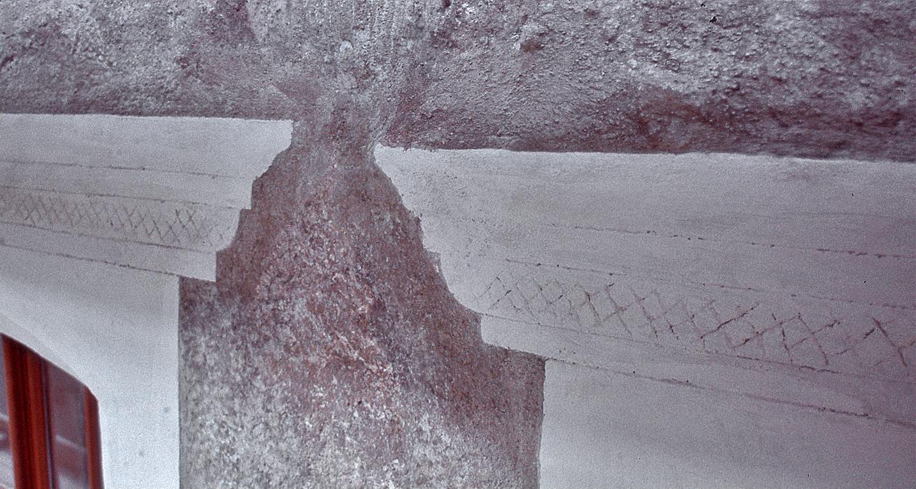 Sgraffitodekoration im Schlusszustand - Schlesisches Museum Schönhof Görlitz
