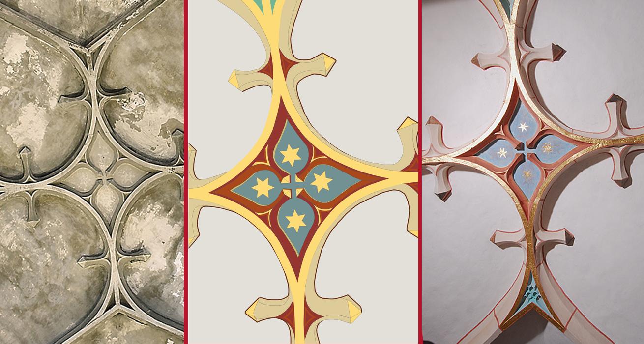 Vom Vorzustand über Visualisierung zum fertigen Ergebnis - St. Bonifatius Kirche Bad Langensalza