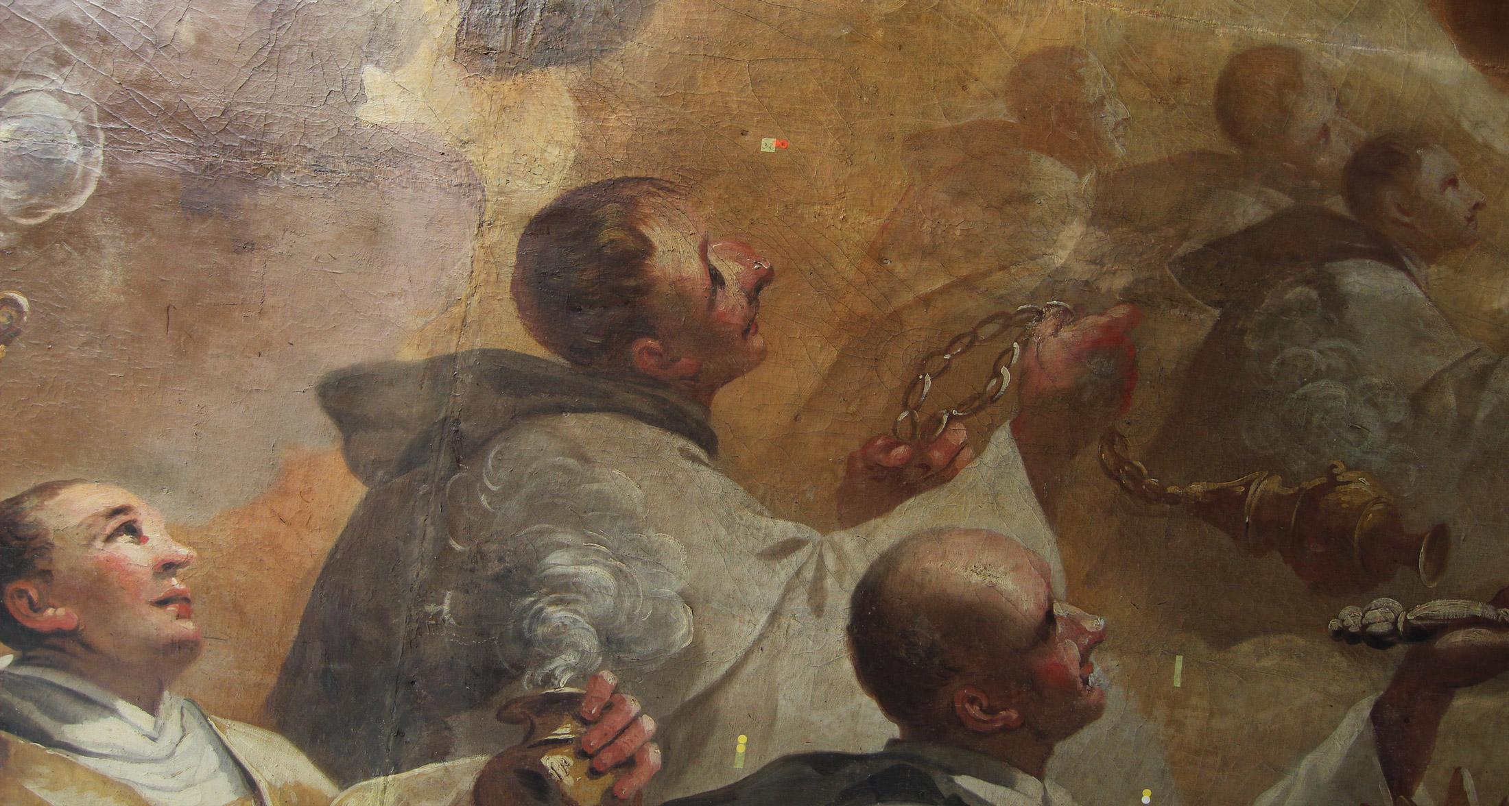 Detail – Schlusszustand mit gefestigter Leinwand