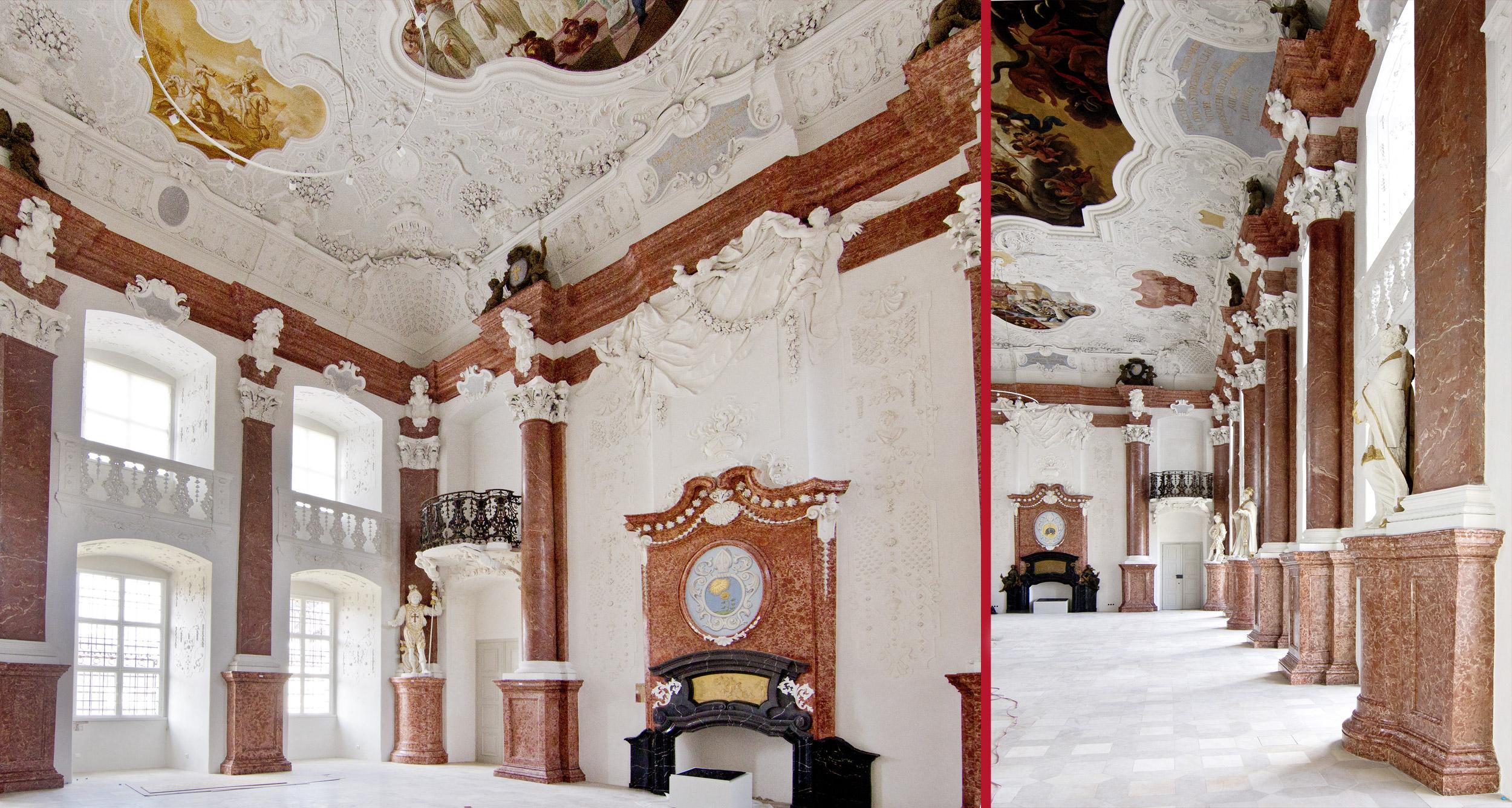 Impressionen aus dem Kaisersaal nach der Restaurierung