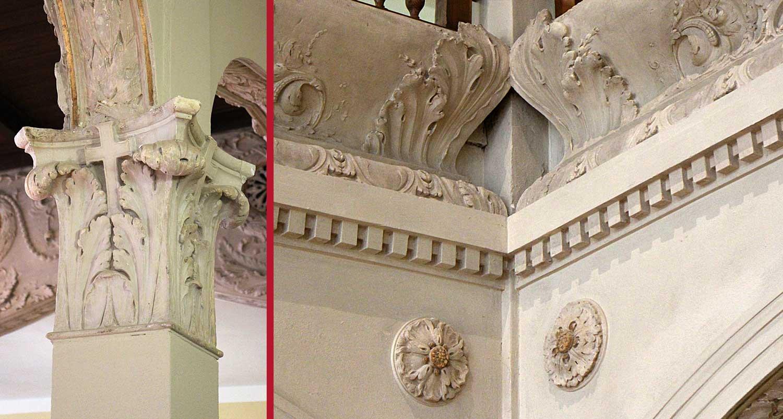 Restaurierung historischer Stuckaturen Villa Elisabeth in Berlin